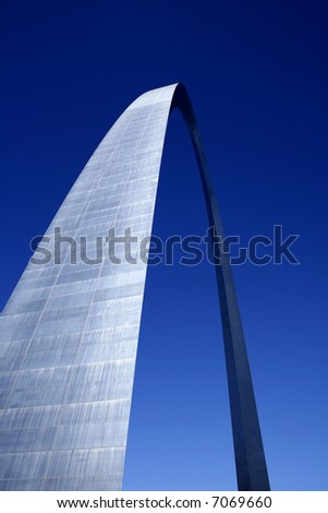 The Arch at St. Louis with Sun Shining in Between