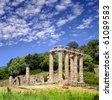The archaeological area of Antas, Sardinia, Italy - stock photo