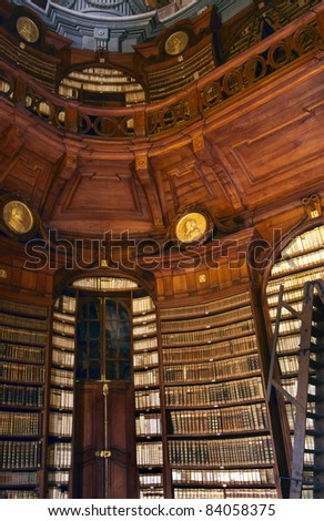 The Archdiocesan Libraryin the Lyceum of Eger; built by Count Karoly Eszterhazy in Eger Hungary - stock photo