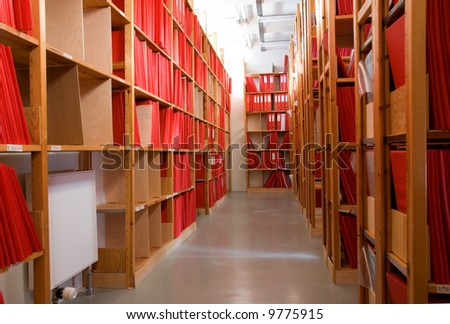 The Archives - stock photo