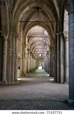 The archway - stock photo
