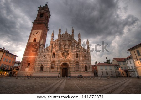 The Arengario (old Town Hall) in Monza, Italy - stock photo