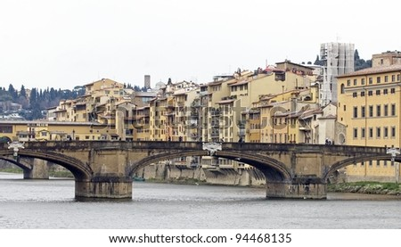 the arno's river, florence italy