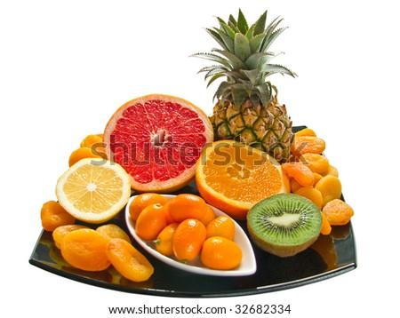 The Aromatic fresh fruits - a vitamins for your health. - stock photo