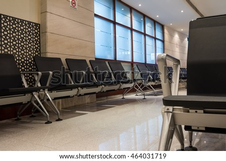 the arrival of the airport in Doha, these chairs in the lobby for passengers