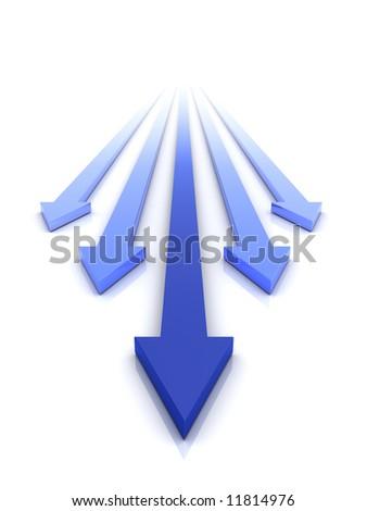 The arrow - stock photo