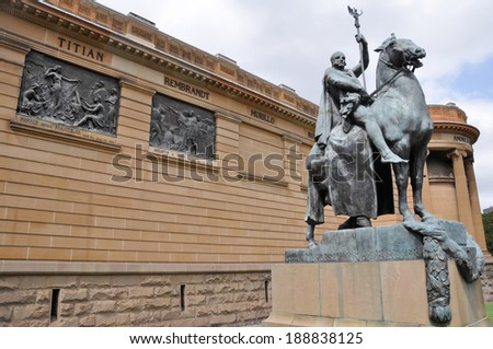 The Art Gallery of New South Wales, Sydney (Australia) - stock photo