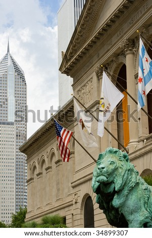 The Art Institute of Chicago - stock photo
