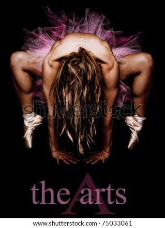 The Art of a Woman Dancer - stock photo