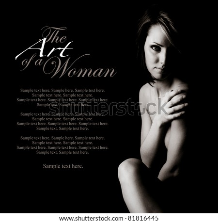 The Art of a Woman with Text Space to the Left - stock photo