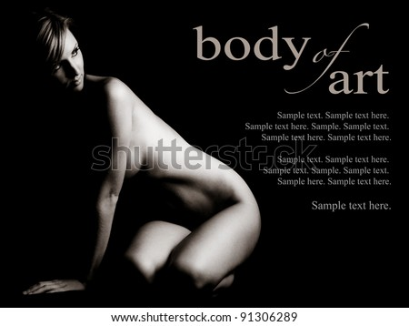 The Art of a Woman with Text Space to the Right - stock photo