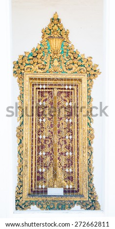 the art of design the door in Thailand - stock photo