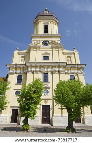 "The artful church ""Hofkirche"" of ""Neuburg"" in Bavaria"