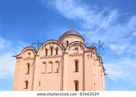 The Assumption Church, located on Kontraktova Square in Kiev. Built in XII century - stock photo