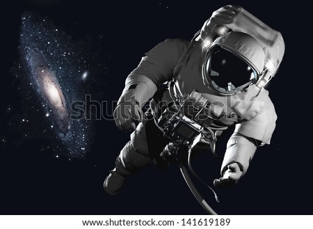 "The astronaut  in outer space""Elemen ts of this image furnished by NASA"" - stock photo"