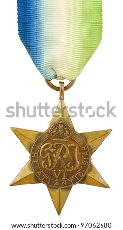 The Atlantic Star Second World War Medal - stock photo