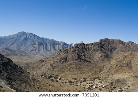 The Atlas mountain, Morocco - stock photo