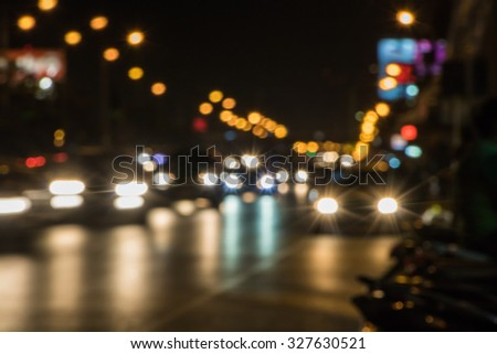 The Atmosphere at Bus Stop in Thailand - stock photo