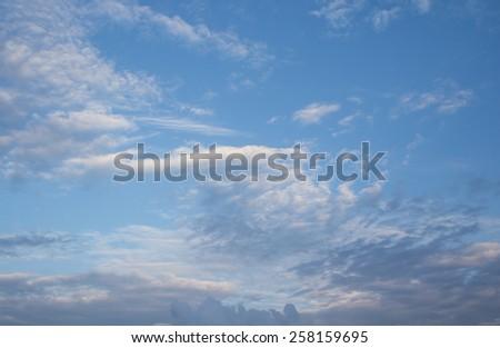 The atmosphere cloudy sky paronama - stock photo