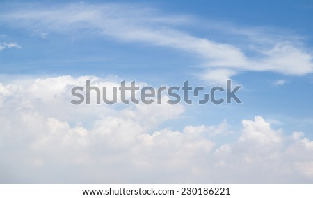 The atmosphere  cloudy with sky. - stock photo