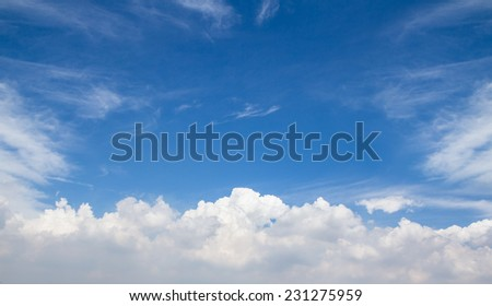 The atmosphere Sky with clouds. - stock photo