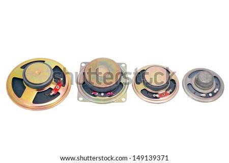 the Audio speakers on white background - stock photo