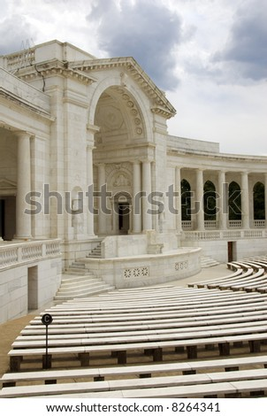 The Auditorium, near the Tomb of the Unknown Soldier, in Arlington National Cemetery, Virginia, USA.