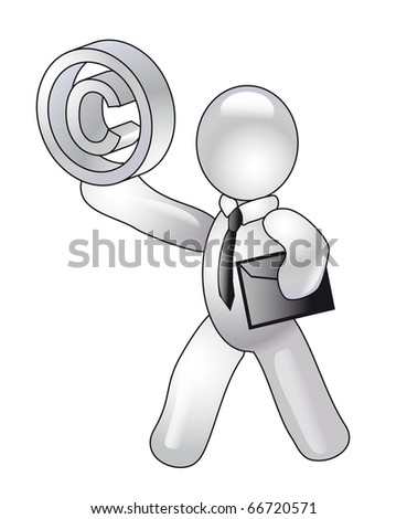 the author of intellectual property - stock photo
