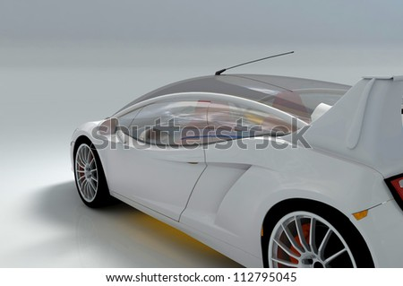 The automobile on a white background - stock photo
