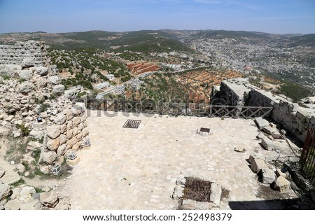 The ayyubid castle of Ajloun in northern Jordan, built in the 12th century, Middle East