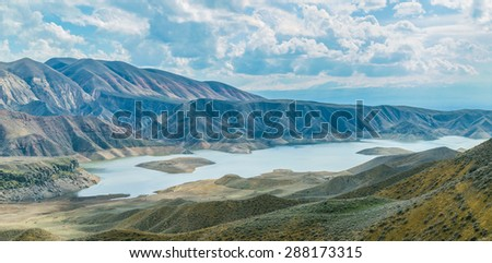 The Azat Water Reservoir, Kotayk Province, Armenia - March 21 2015 - The Azat is a reservoir in the Kotayk Province of Armenia.