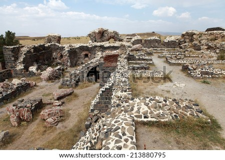 The Aziziye Fort I in Erzurum, Turkey. - stock photo