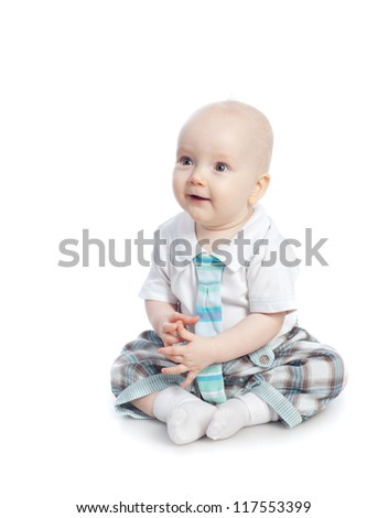 The babe, isolated on the white - stock photo