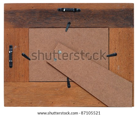 The back of a wooden frame - stock photo