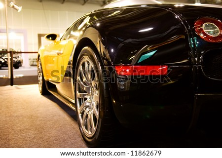 The back of sport car on show - stock photo