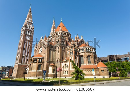 The back of the votive church, Szeged, Hungary