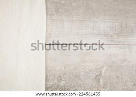 the background made from tablecloth on wooden table  - stock photo