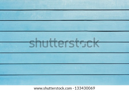 the background of new blue painted wood - stock photo