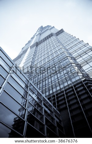 the background of the modern building in shanghai china. - stock photo