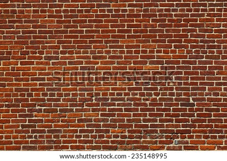 the background of the old red brick wall - stock photo
