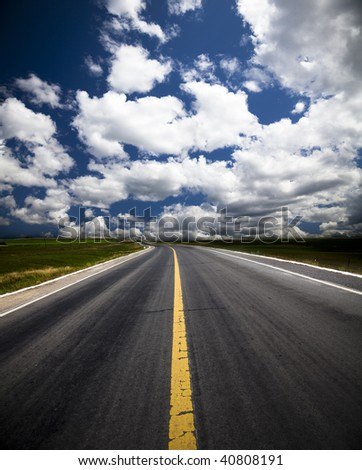 the background of the road with cloud of a meadow china.