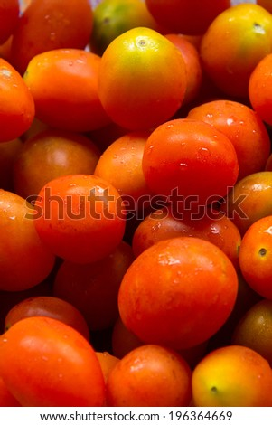 The background of tomatoes