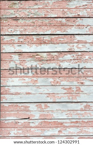 the background of weathered white painted wood - stock photo