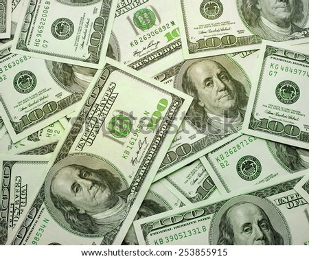 the background texture of dollars