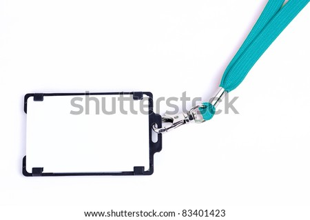 the badge on a white background - stock photo