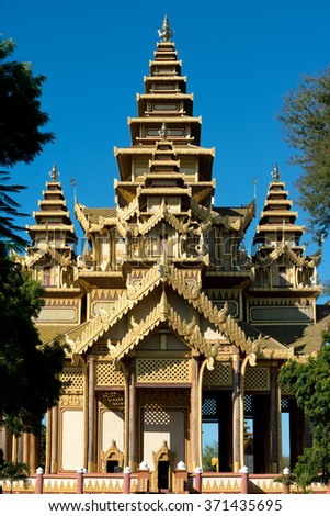 The Bagan Golden Palace, in Bagan. Myanmar (Burma) - stock photo