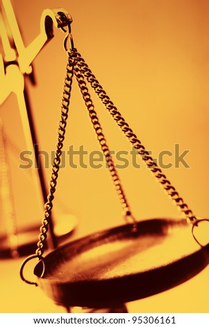 The Balance of Justice - stock photo