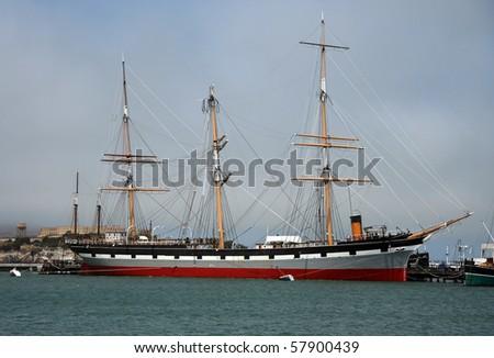 The Balclutha (1886), San Francisco Maritime National Historical Park - stock photo