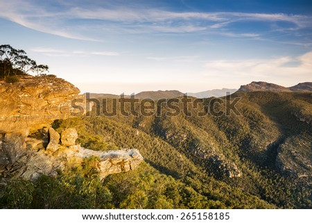 The Balconies lookout in the Grampians National Park, Victoria, Australia - stock photo