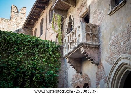The balcony of Romeo and Juliet in Verona, Italy - stock photo